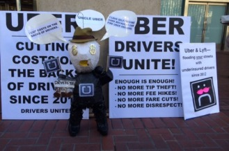 Uber protestors via sfappeal.com