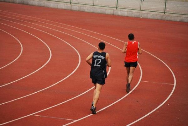 race track, marathon, runners, sprinters, race