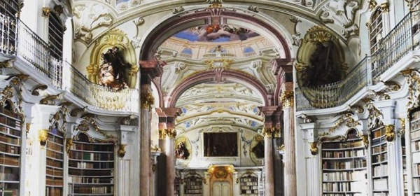 austria, library, beautiful places